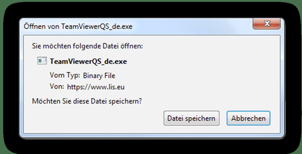 LIS Fernwartung Datei speichern